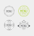 Menu logo template vintage geometric badge food vector image vector image
