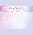 merry christmas banner with turn paper edge vector image vector image