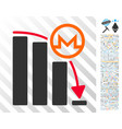 monero falling acceleration graph flat icon with vector image vector image