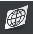 Monochrome globe sticker vector image vector image