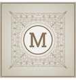 Monogram icon design vector image
