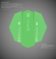 Octagon infographic template vertically divided to vector image vector image