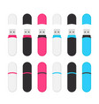 oval usb flash drives colorful set vector image vector image