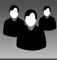 people icon humans male for business websites and vector image