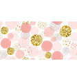 pink polka dot pattern seamless dotted pattern vector image