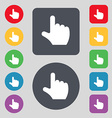 pointing hand icon sign A set of 12 colored vector image vector image