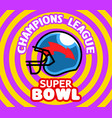 pop art super bowl badge vector image