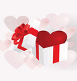present for valentine vector image vector image