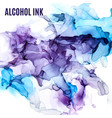 purple and blue shades ink background wet liquid vector image vector image