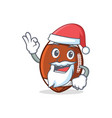santa american football character cartoon vector image vector image