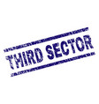 scratched textured third sector stamp seal vector image vector image