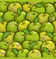 seamless pattern green apples vector image