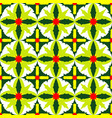 seamless pattern of exotic green leaves vector image vector image