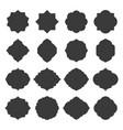 set islamic frames shapes badges vector image