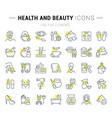 set line icons health and beauty