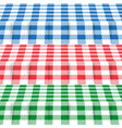 set of colored tablecloths vector image vector image