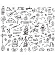 set of forest camping icons vector image vector image