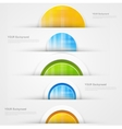 Set of modern banners with blue lines vector image vector image