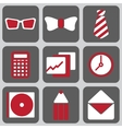set of nine icons vector image vector image