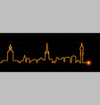 stockholm light streak skyline vector image vector image