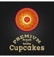 Sweet and tasty delicious food best cupcake vector image vector image