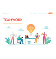teamwork business solutions landing page vector image vector image