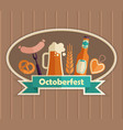 the emblem of the oktoberfest beer festival vector image