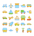 Transport Colored Icons 2 vector image vector image