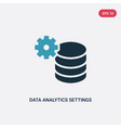 two color data analytics settings icon from user vector image vector image