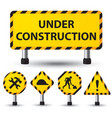 under construction sign vector image