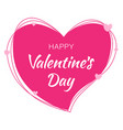 valentines day card design vector image vector image
