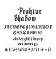vintage gothic font with shadow vector image
