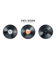 vinyl music record set retro audio disk realistic vector image