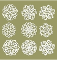 White geometric star shapes snowflakes with fine vector image vector image