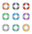 set of colorful lifebuoy icons vector image