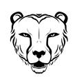 cheetah head silhouette vector image