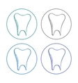 logo tooth set vector image