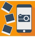 phone photo shadow flat vector image