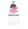 2020 calendar page vector image vector image