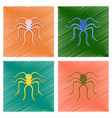 assembly flat shading style octopus vector image