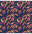 Autumn leaves on branches seamless pattern vector image vector image