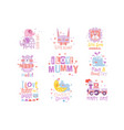 baby nursery room print design templates vector image