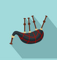 bagpipes icon flat style vector image vector image