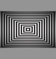 black and white square simple abstract pyramid vector image vector image