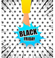 black friday advertising bright concept vector image