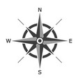 black wind rose isolated on white background vector image vector image
