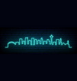 blue neon skyline seattle city bright seattle vector image vector image