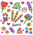 candy object colorful of doodles vector image