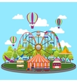 Carousel in flat design vector image