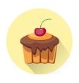Cartoon dessert cake icon vector image
